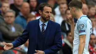 Gareth Southgate and John Stones of England