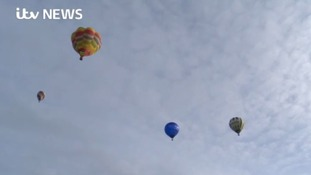 Balloon enthusiasts flock to East Midlands after airport closure