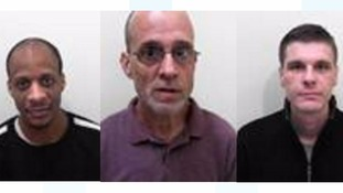 Admi Headley, Paul Bromwich and Wayne Maycock, who absconded from HMP Leyhil