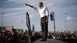 President Obama seen campaigning in Florida