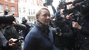 Swedish prosecutor Ingrid Isgren arrives at the Ecuadorian embassy in London on Monday.