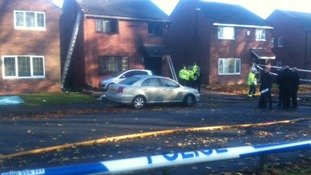 Scene of the house fire in Edgbaston