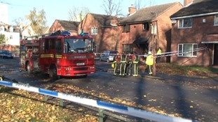 Fire crews on Speedwell Road in Edgbaston this morning