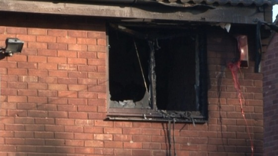 The fire affected much of the first floor of the house