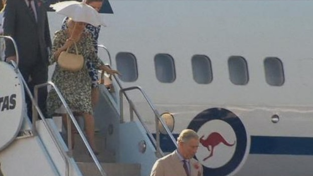 Prince of Wales and the Duchess of Cornwall arrive in Queensland