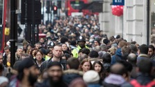Shoppers flock to Regent Street, central London, as they search for bargains during the Boxing Da