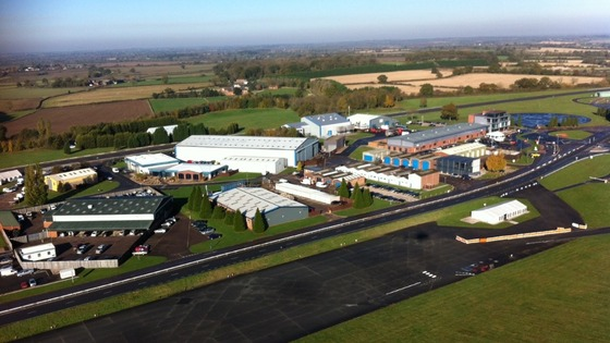 Aerial view of MIRA Technology Park in Nuneaton