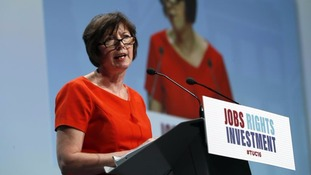 Frances O'Grady addresses TUC's annual conference in Brighton in September.