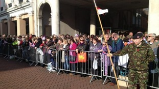 Hundreds prepare to welcome the Royal Anglian Regiment home