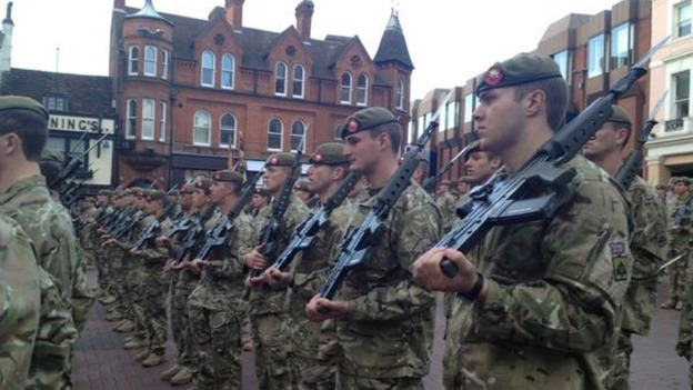 Royal Anglians homecoming parade starts in Ipswich
