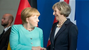 Mrs Merkel's comments will be welcomed by Theresa May
