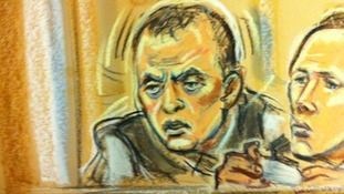 Gary Dobson in a court sketch
