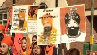 Thousands of Sikh's protest in Birmingham for Indian prisoner