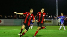 James Armson scored a hatrick for Brackley Town