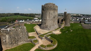 A general view of Pembroke Castle in Wales.