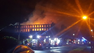 Images of the fire at Newsome Mill in Huddersfield.