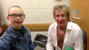 Celtic superfan Jay teams up with Rod Stewart