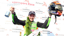Alastair Seeley on the NW200 podium