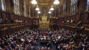 Inside the House of Lords.