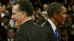 Mitt Romney Barack Obama US election