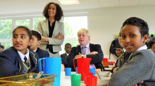 Katharine Birbalsingh, headteacher of Michaela Community School with Boris.