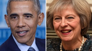 Theresa May set to hold talks with Barack Obama
