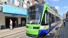 Croydon tram service reopens.