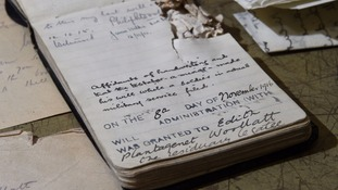 Battle of the Somme: Bullet-scarred notebook reveals soldier's tragic love for sweetheart