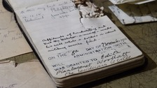 Lt Woollatt's body was never found, but another soldier discovered the notebook on the battlefield