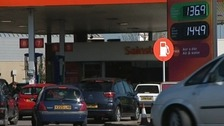 Queues at Llandudno Petrol Station