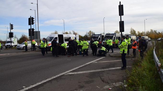 Police made 15 arrests.