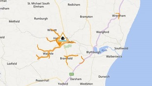 A flood alert has been issued for the Blyth and Walpole Rivers and Chediston, Bramfield and Wrentham watercourses.