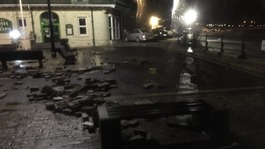 Flooding and storm damage as Angus batters the south