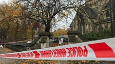 The man was attacked outside St Giles Church
