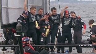 Victory in Japan for Sir Ben's America's Cup team sends 'strong message'.