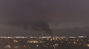 Huge fire at garden centre near Heathrow Airport being tackled