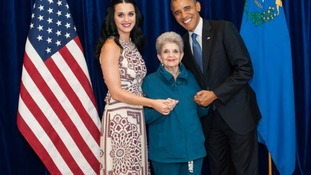 Kate Perry, her grandmother and President Obama