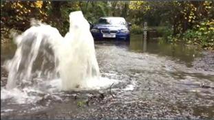 Flooded BMW