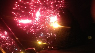 The skies above Morpeth were filled with red and yellow fireworks