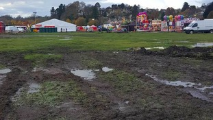 Customers branded the Bakewell Winter Wonderland a 'disgusting mud bath'