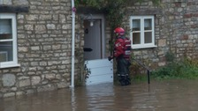 Emergency services visited those who were stuck in their houses.