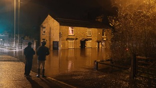 Flooding in Stalybridge, Greater Manchester.