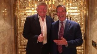 Nigel Farage met Donald Trump in New York.