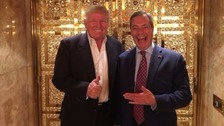 Nigel Farage met Donald Trump in New York.