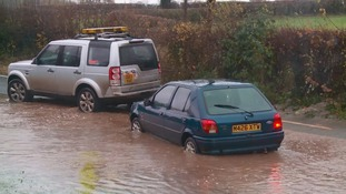 Drivers warned to take extra care on flooded roads