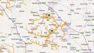 Flood alerts in force in the Northamptonshire and Milton Keynes areas.