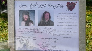 Tributes left outside a house in Spalding, Lincolnshire.