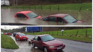 Before and after pictures: flood waters recede across the South West