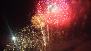 The firework display at Stockton Riverside