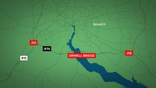 The Orwell bridge in Suffolk has now re-opened